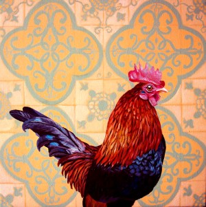 Fernanda Eva - galo luso brasileiro 60x60 cm