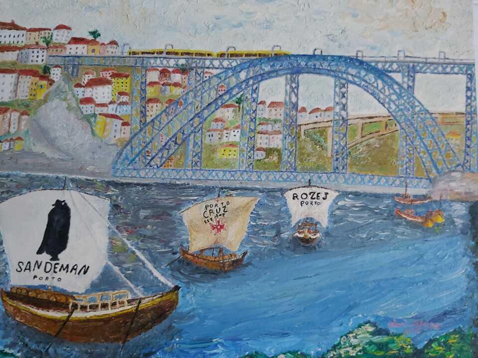 Olívio Ataíde. Barcos Rebelo sobre a Ponte do Infante, 2015