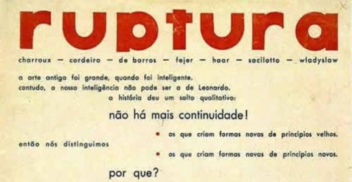 Manifesto do Grupo Ruptura