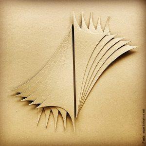 Flávia Mesquita; Overlay, 2017 – Escultura em papel.
