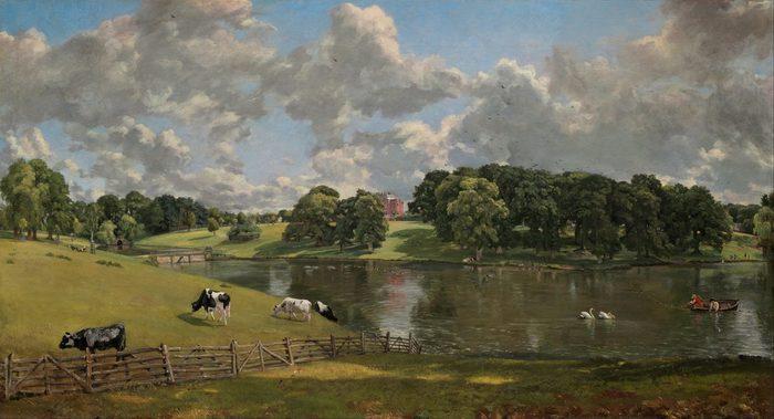 Poética do Pitoresco; John CONSTABLE (1776-1837) Wivenhoe Park, Essex, 1816. Ost, 56x101. National Gallery of Art, Washington, EUA.