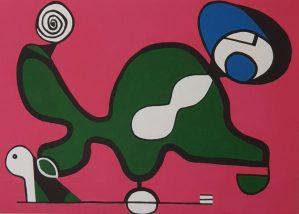 Equilíbrio em Verde e Rosa