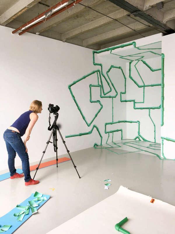 Marleen Sleeuwits. Instalação em progresso