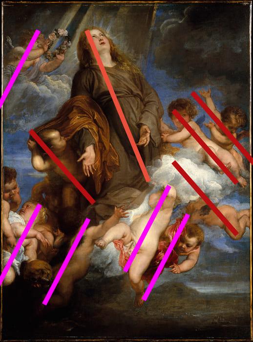 Santa Rosalie Intercedendo pelos Pestilentos de Palermo. Anthony Van Dyck, 1624. Óleo sobre Tela, 99.7 x 76.7. Metropolitan Museum of Art.