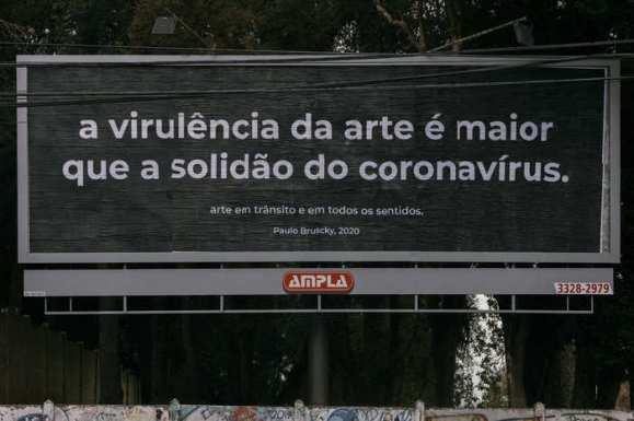 arte em outdoor; Paulo Bruscky (Curitiba) Créditos: isabella lanave