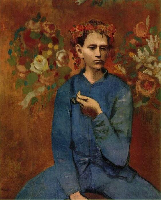 Pablo Picasso. Menino com um cachimbo, 1905