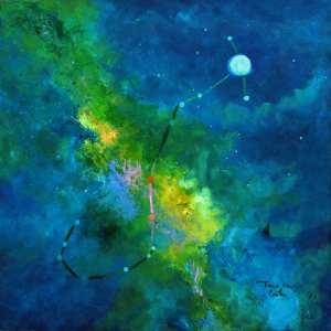 Tarcisio Costa. Constelação de Escorpião 2020 - Acrílico sobre tela - 60 x 60 cm
