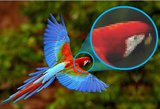 Imagem pixelizada; interpolação