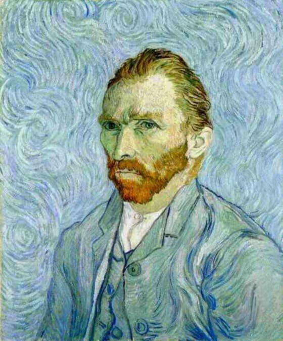 Autorretrato azul de Van Gogh