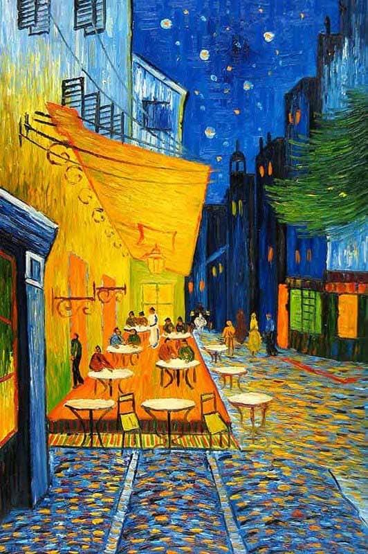 terraço do café na praça do fórum; Van Gogh