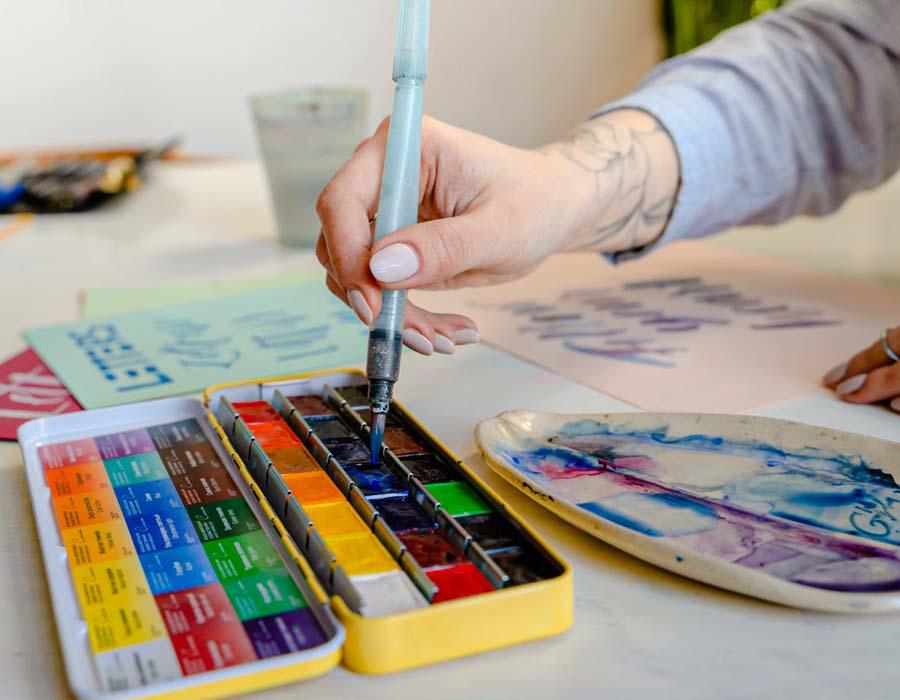pintando com aquarela