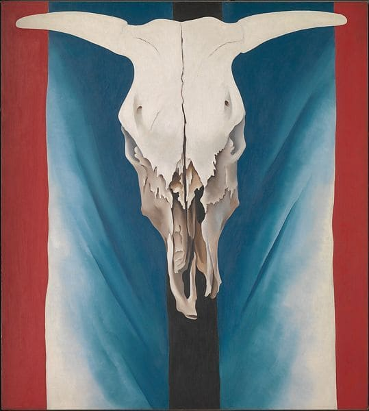 Georgia O'Keeffe - Cow's Skull - Red, White and Blue