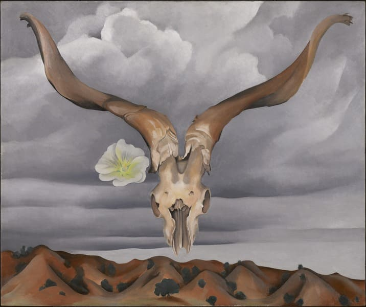 Georgia O'Keeffe - Ram's Head, White Hollyhock-hills, 1935