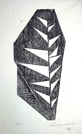 Sérvulo Esmeraldo - Vegetal IV, 1957