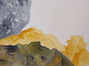 Marisa Carvalho - série Paisagem I, 2021, ecoline, 24 x 32 cm