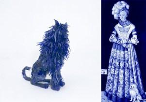 Marta Klonowska, scultura del cane e riproduzione del ritratto della Duchessa Katharina Von Mecklenburg di Luchas Cranach il Vecchio