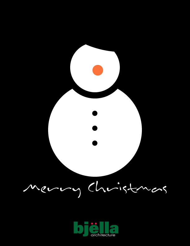 Snowman Greeting Card 2015 - Option 2