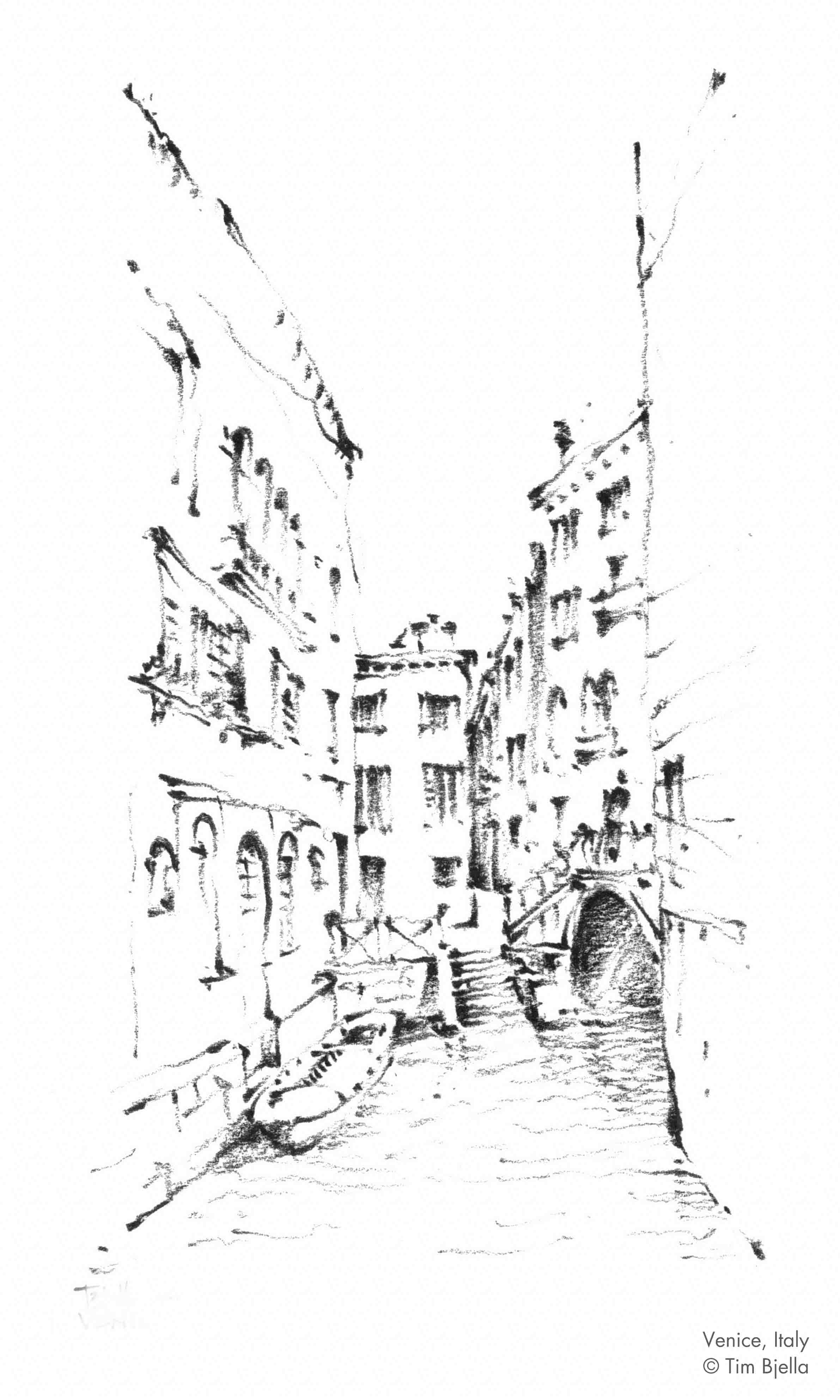 Venice via pencil art live in it