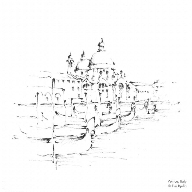 Tim Bjella Sketches - Venice 5
