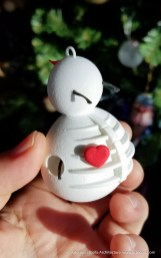 Snowman Ornament 1 - 3d printed - by Tim Bjella-2
