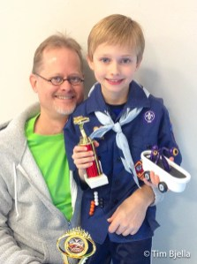 Beck Bjella - Pinewood Derby Race 2016
