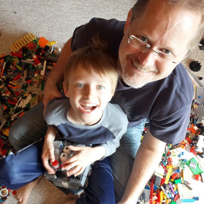 Legos with Tim and Beck Bjella