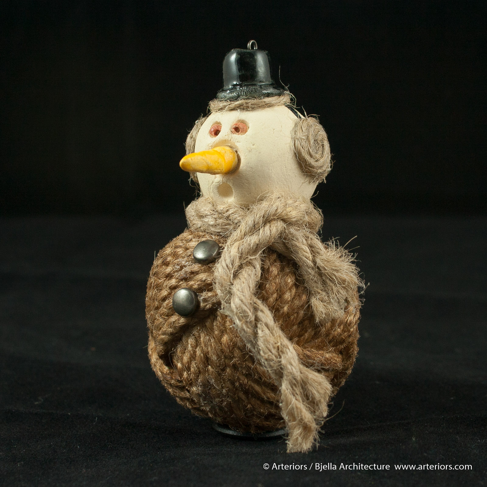Bjella Snowman Ornament - Day 11 - Rope-7