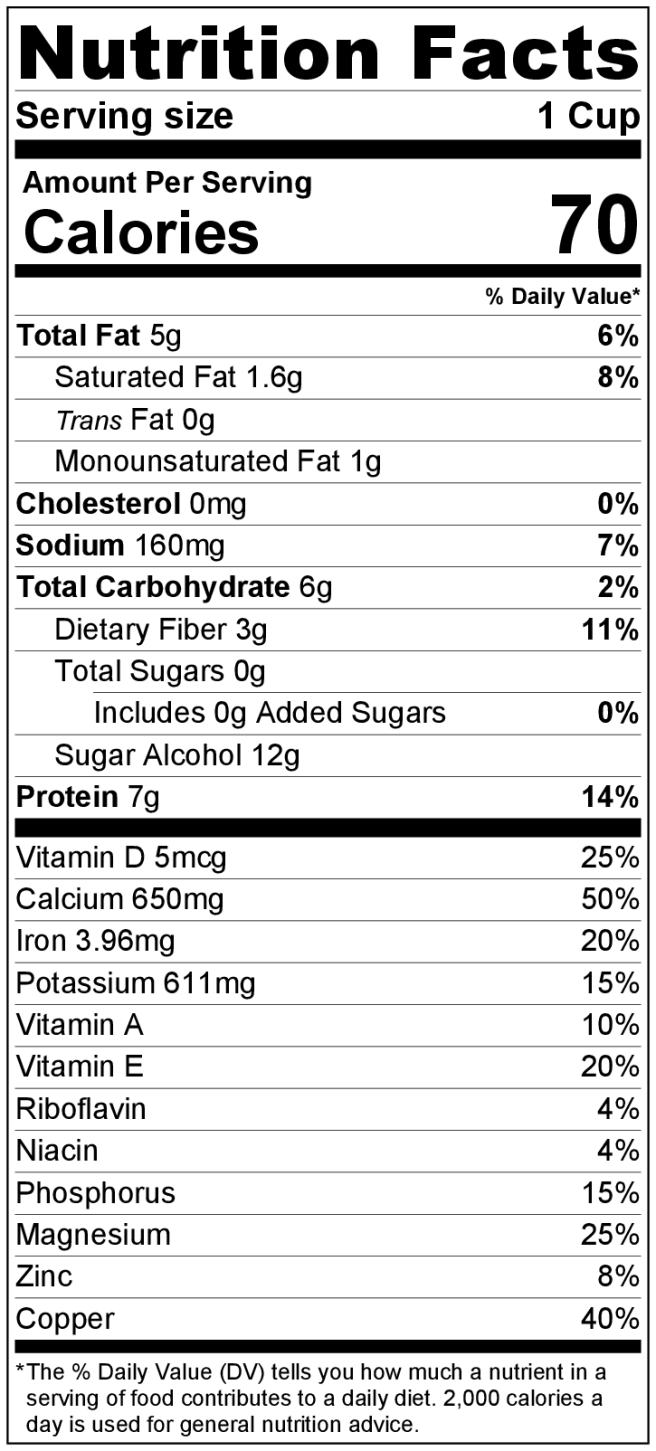 Dark Hot Chocolate Nutrition Info