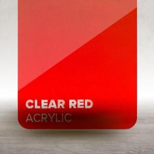 Acrílico Transparente Vermelho Flux Lasers