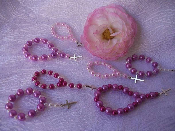 Lembranças de Batizado: Terço de Miçangas