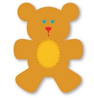 Molde em eva de urso