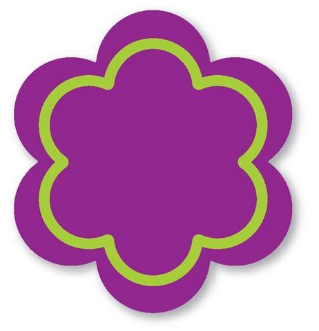Moldes em eva flor 6 petolas