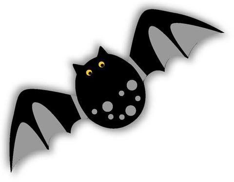 Moldes em eva do morcego