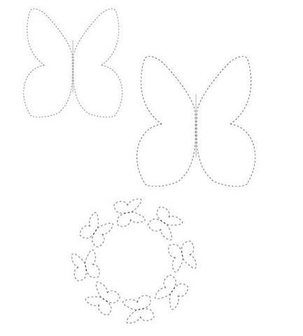 moldes eva borboletas