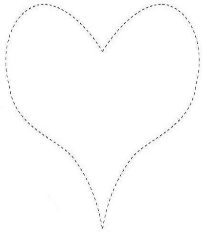 Coração pontilhado molde