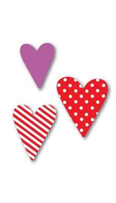 Molde em eva corações