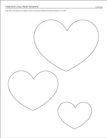 corações molde eva