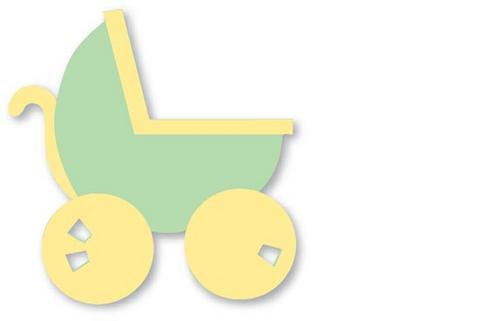 moldes de eva carrinho de bebe