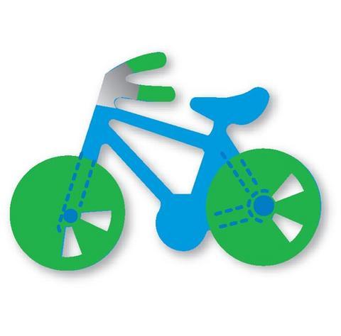 moldes eva bicicleta