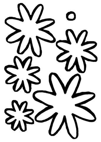 Moldes de eva folhas estrelas