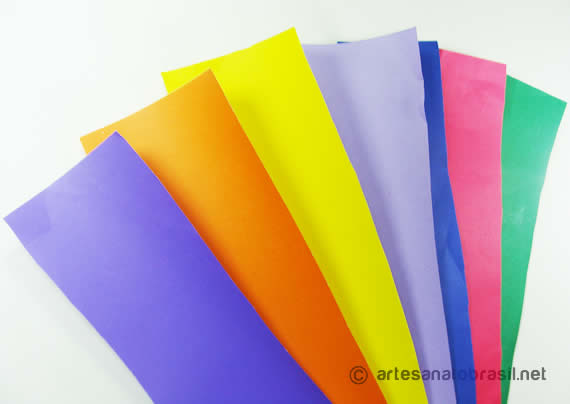 Material Papel Color Set Argolas de papel