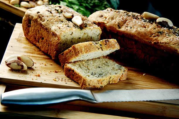 Pão de ervas de liquidificador