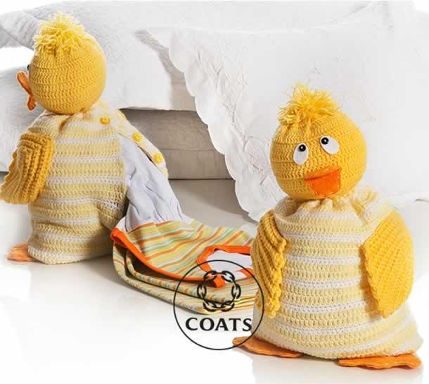 bichinhos-em-croche-patinho-porta-pijama