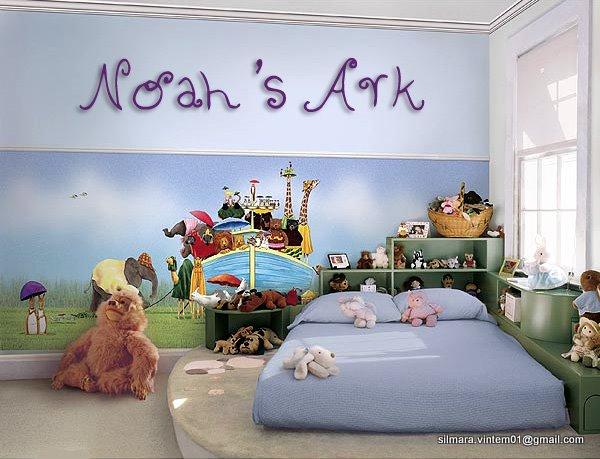 Quarto decorado arca de noé