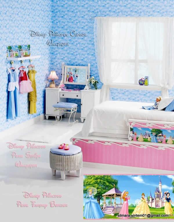Quarto decorado princesas disney