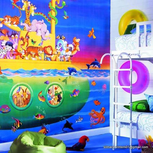 Quarto decorado com submarino