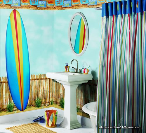 Banheiro decorado infantil