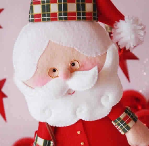 7 moldes de Papai Noel para enfeite e Artesanato de natal