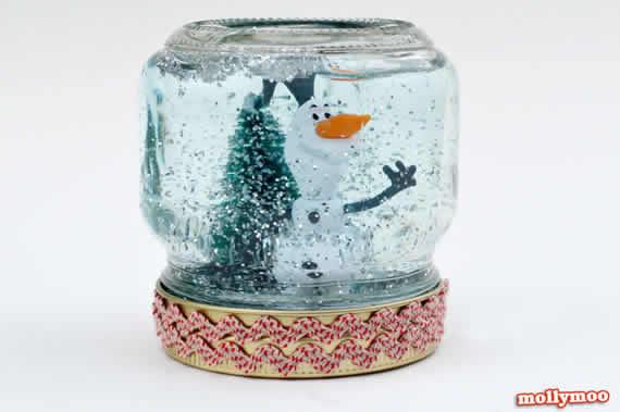 Globo de neve com pote de papinha - Passo a passo!
