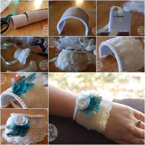 Bracelete / Pulseira com Rolo de Papel Higienico